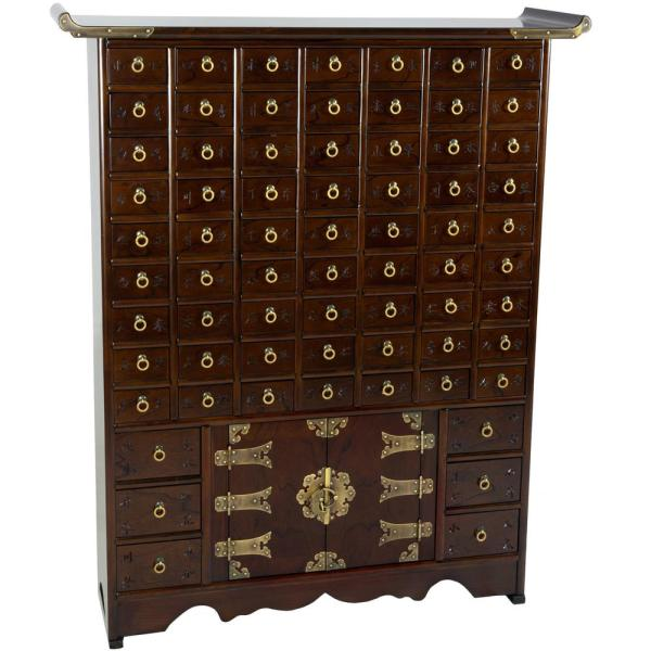 Oriental Furniture Brown Chest KRN-A-16