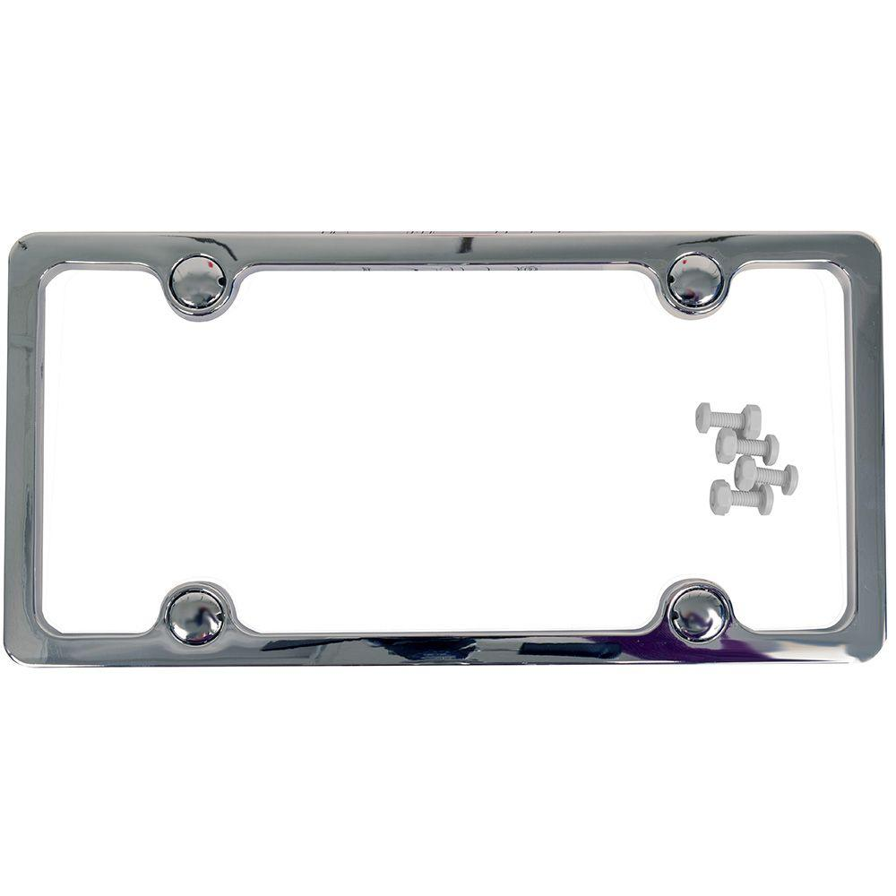 Custom Accessories Chrome License Plate Frame-92503 - The Home Depot