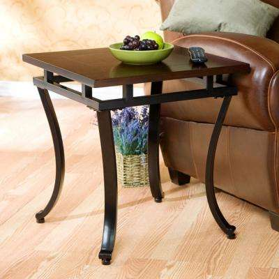 Modesto Espresso Contoured End Table
