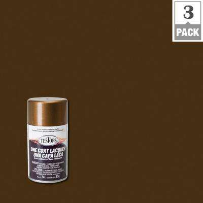 3 oz. Bronze Lacquer Spray Paint (3-Pack)