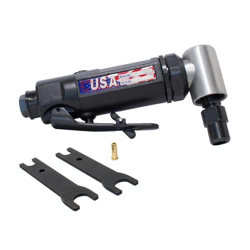 1/4 in. Mid Speed Angle Die Grinder with Adapter