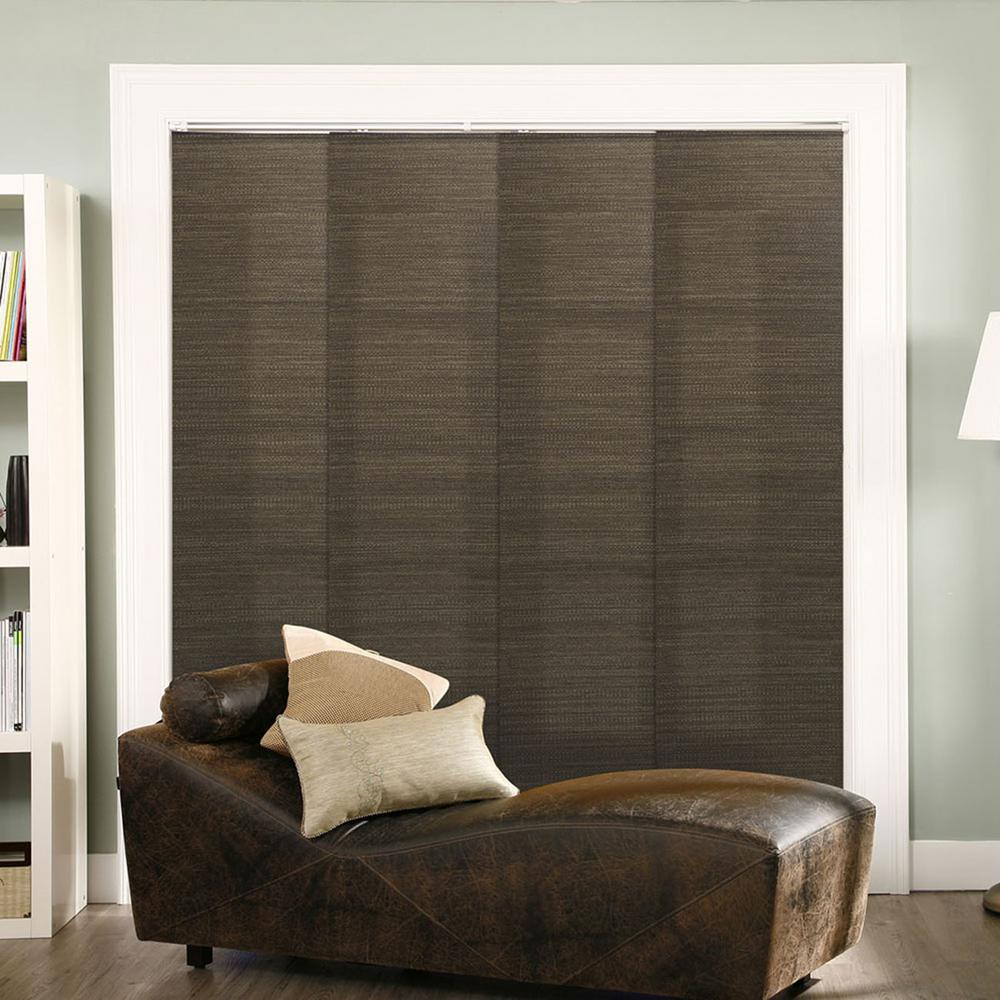 Panel Track Blinds French Oolong Polyester Cordless Vertical Blinds - 80