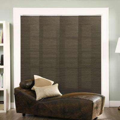 Panel Track Blinds French Oolong Polyester Cordless Vertical Blinds - 80 in. W x 96 in. L