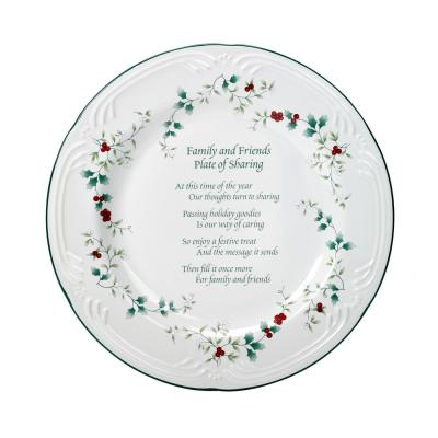 Stoneware Friends and Family Clay Plate
