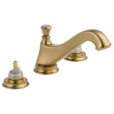 Cassidy 8 in. Widespread 2-Handle Bathroom Faucet with Metal Drain Assembly in Champagne Bronze (Handles Not Included)