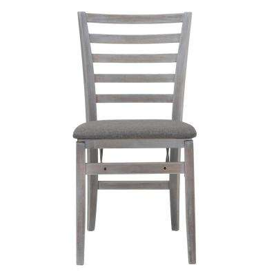 Gray Fabric Seat With Contoured Back Folding Chair (Set of 2)