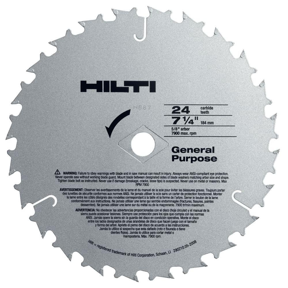 Hilti W Csc 7 1 4 In X 24 Teeth General Purpose Circular