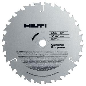 Hilti W-CSC 7-1/4 inch x 24-Teeth General Purpose Circular Saw Blades Contractor's (50-Pack) by Hilti