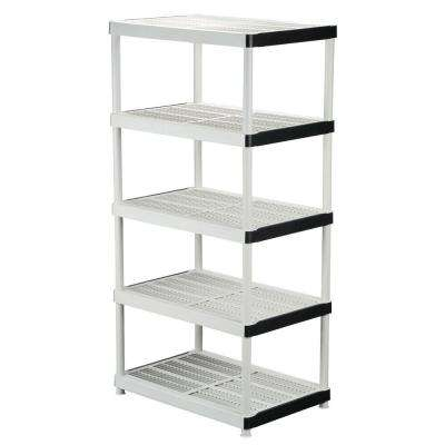 72 in. H x 36 in. W x 24 in. D 5 Shelf Plastic Ventilated Storage Shelving Unit