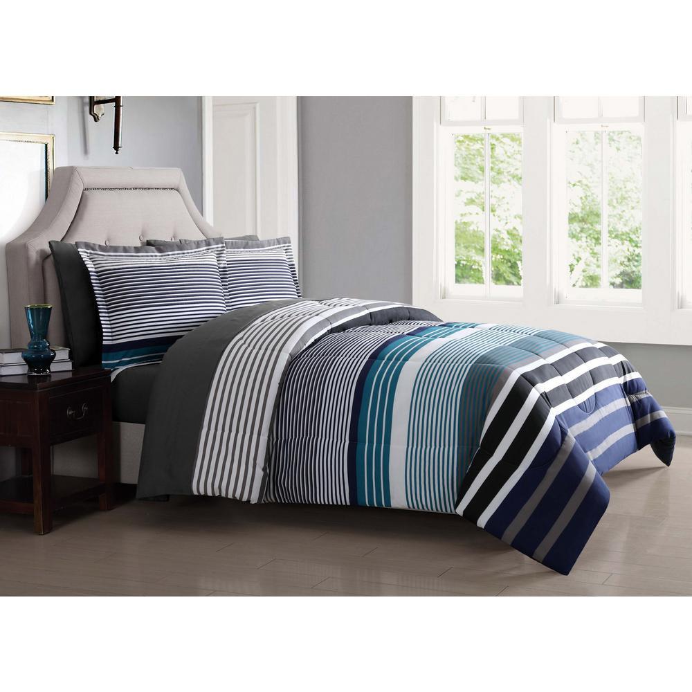 Abbington Blue 6-Piece Twin XL Bed Ensemble