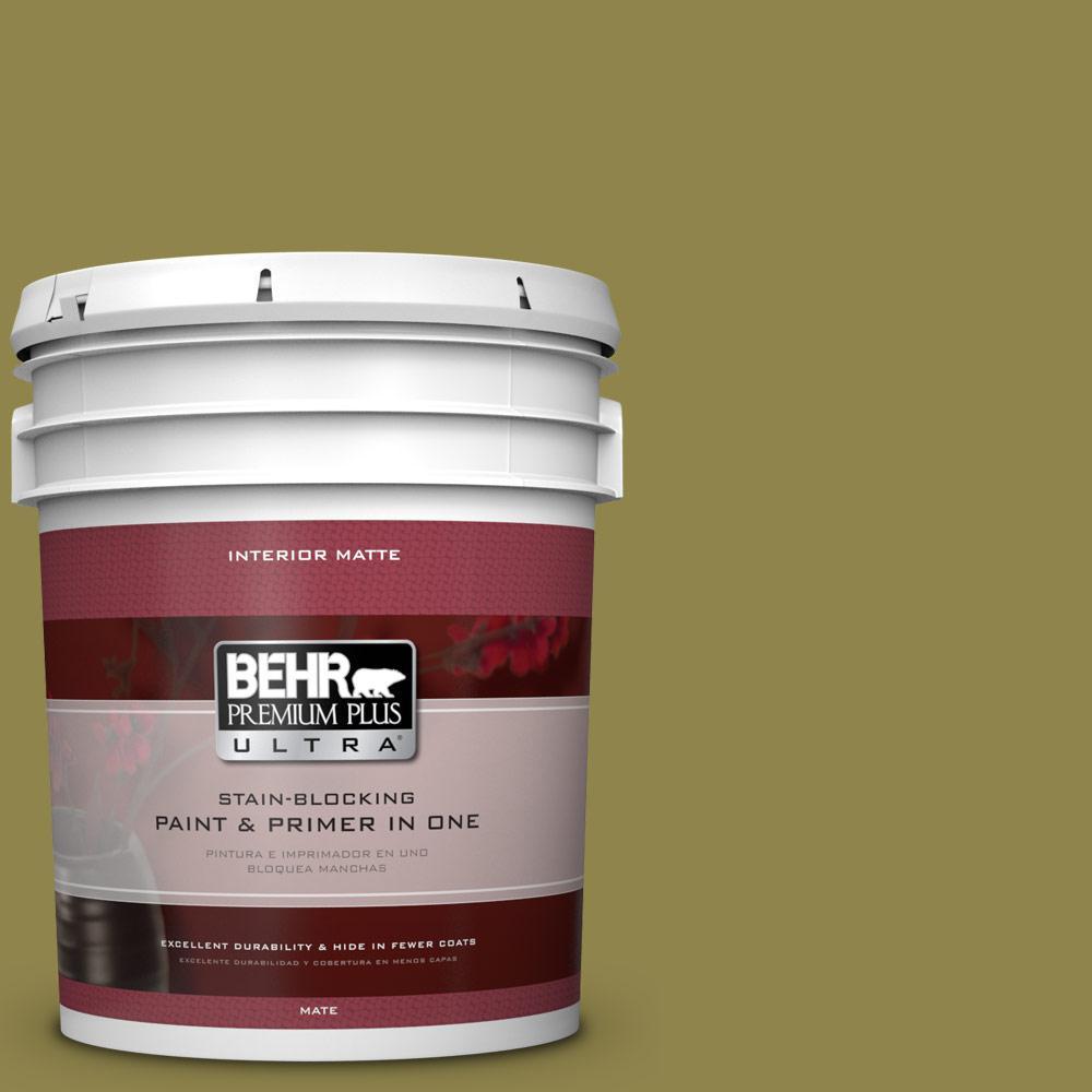BEHR Premium Plus Ultra 5 gal. #PPU9-2 Lucky Bamboo Flat/Matte Interior Paint