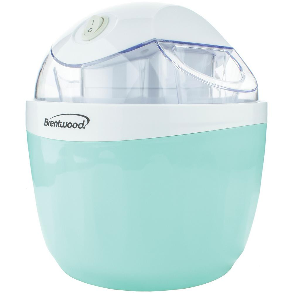 1 Qt. Blue Ice Cream and Sorbet Maker The Brentwood Appliances 1 Qt. Ice Cream and Sorbet Maker does it all. All of your sweet tooth cravings can be satisfied in this compact machine. This ice cream maker includes quick, delicious recipes the whole family will enjoy. Color: Blue.