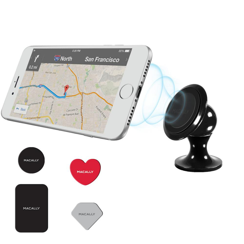 Macally Super Strong Magnetic Car Dashboard Mount Holder for iPhone SmartPhone