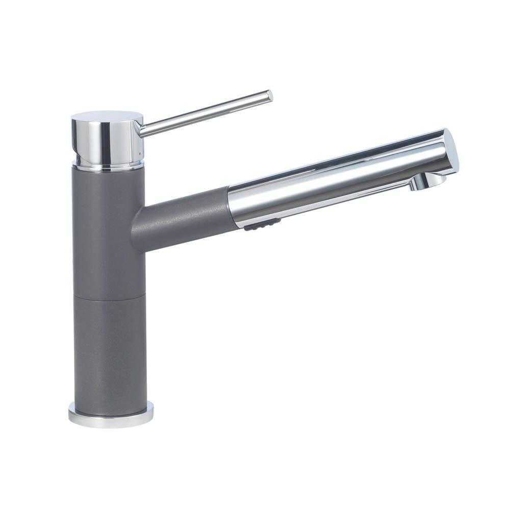 Linden single handle pullout kitchen faucet