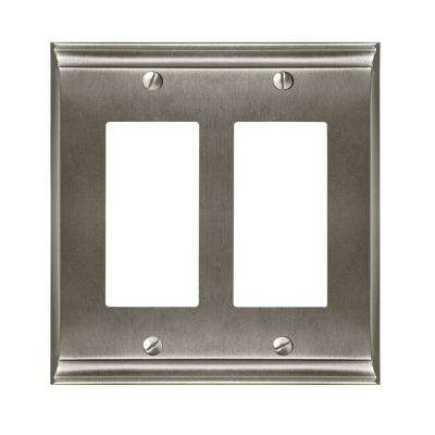 Candler 2-Rocker Wall Plate, Satin Nickel