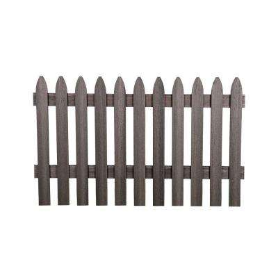 3-1/2 ft. H x 6 ft. W Cape Cod Gray Gothic Composite Fence Picket Panel