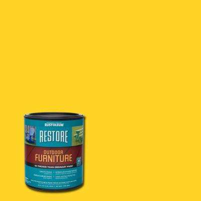 1 qt. Sun Yellow Outdoor Furniture Coating