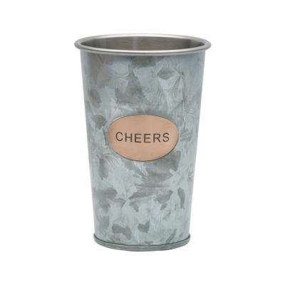 20 oz. Double Wall Galvanized Cheers Tumbler