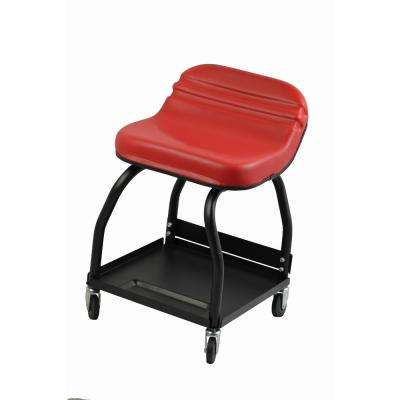 300 lbs. Capacity High Rise Padded Roller Creeper Mechanic's Seat with 4 Swivel Castors (1-Pack)
