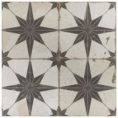 "Kings Star Nero 17-5/8""x17-5/8"" Ceramic F/W Tile"