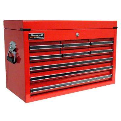 Professional 27 in. 9-Drawer Top Chest, Red