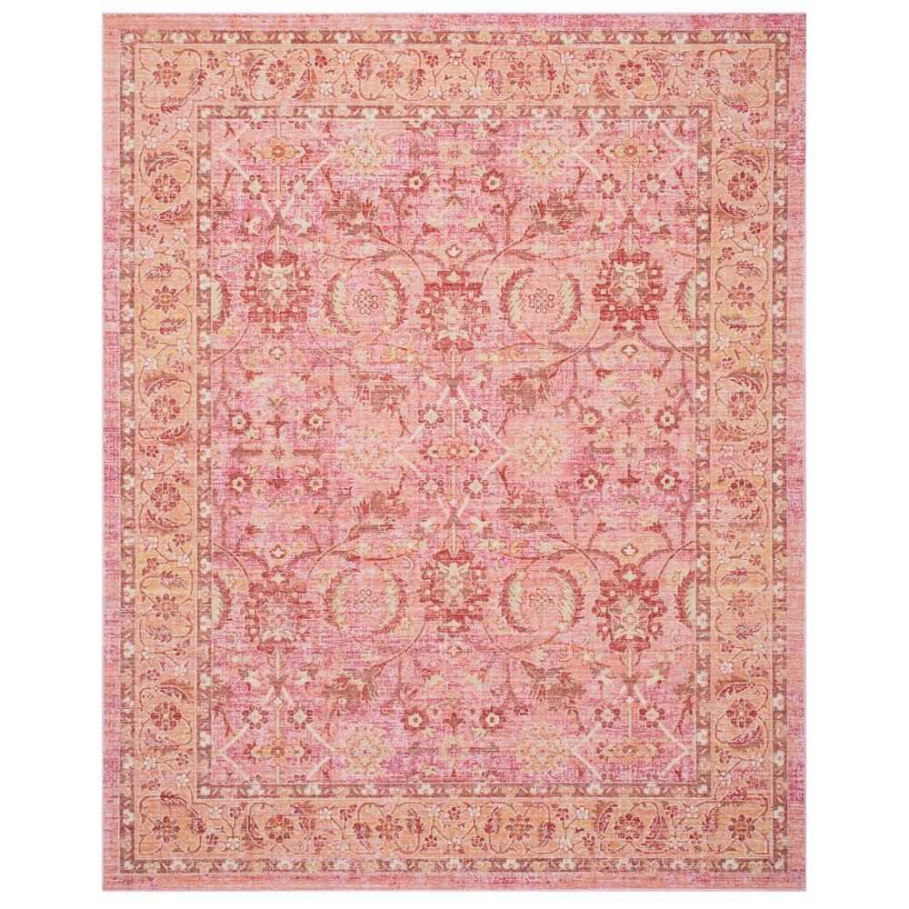 Windsor Pink/Orange 8 ft. x 10 ft. Area Rug