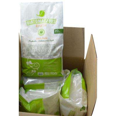 10 lbs. Bag Diatomaceous Earth Food Grade (Fresh Water Type) Codex DE (0.5) (4-Pack)