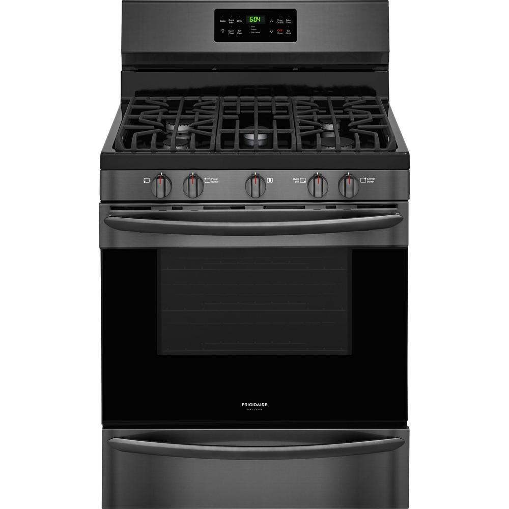 Ge 30 In 5 0 Cu Ft Free Standing Gas Range In Stainless
