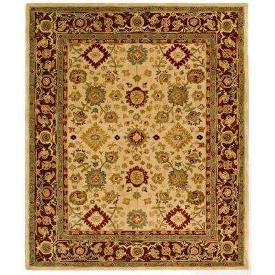 Anatolia Ivory/Brown 9 ft. 6 in. x 13 ft. 6 in. Area Rug