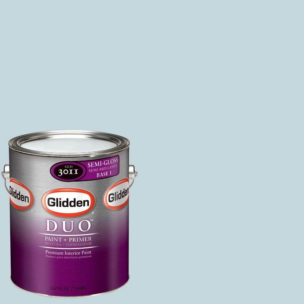 Glidden DUO Martha Stewart Living 1-gal. #MSL146-01S Ice Rink Semi-Gloss Interior Paint with Primer-DISCONTINUED