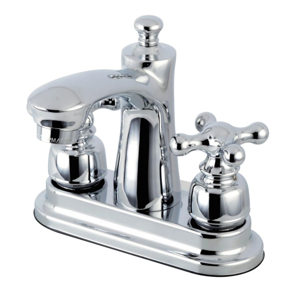 Kingston Brass Victorian 4 in. Centerset 2-Handle Bathroom Faucet in Chrome