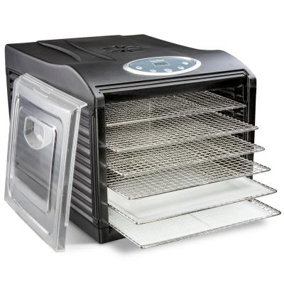 Stainless Steel Tray Food Dehydrator Machine 6 Trays 480w Digital Timer & Temperature Control, Auto Shutoff 95F to 158F