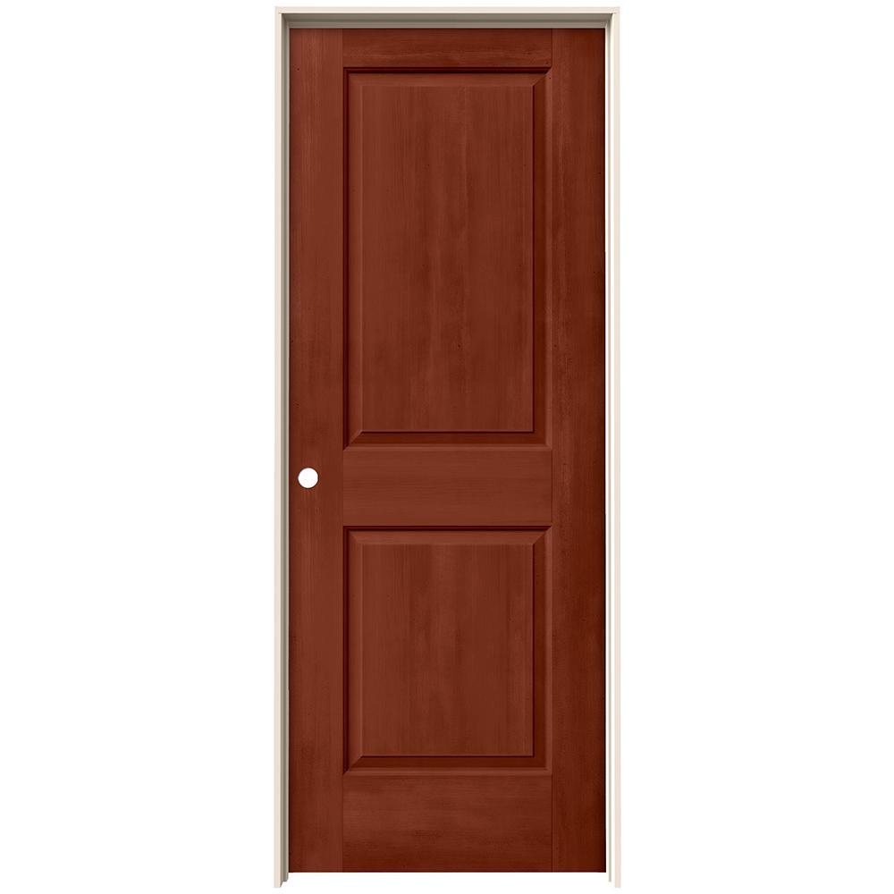 24 in. x 80 in. Cambridge Amaretto Stain Right-Hand Solid Core Molded Composite MDF Single Prehung Interior Door