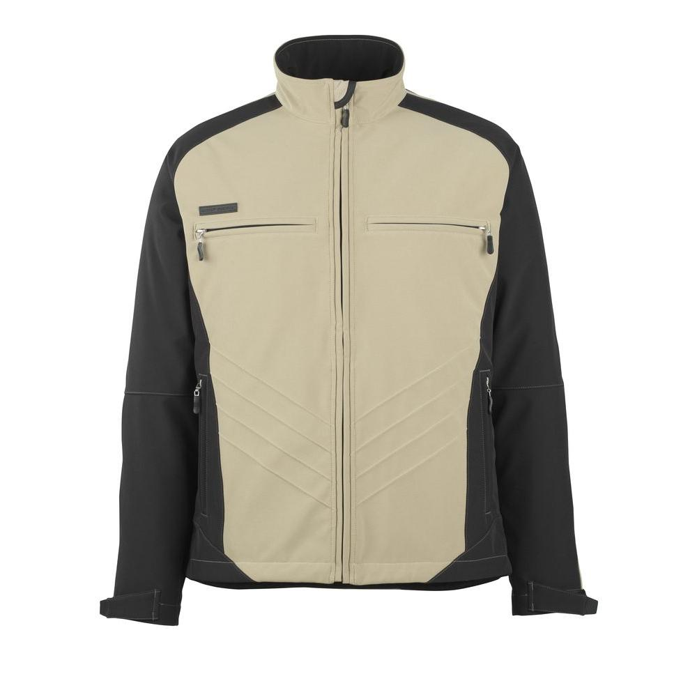 MASCOT Men's XX-Large Two Tone Khaki/Black 100% Polyester Dresden Softshell Jacket