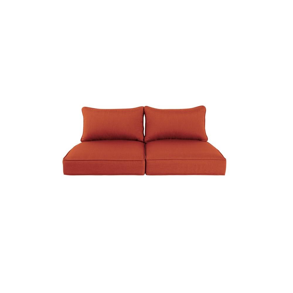 Greystone Replacement Outdoor Loveseat Cushion in Cinnabar