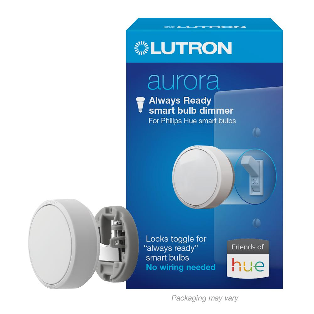Lutron Aurora Smart Bulb Dimmer Switch for Philips Hue Smart Bulbs, White
