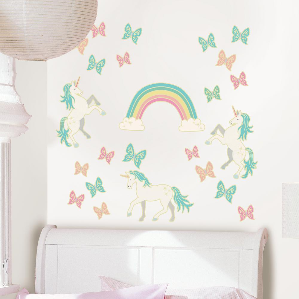 Wall Pops Enchanting Unicorns Glow In