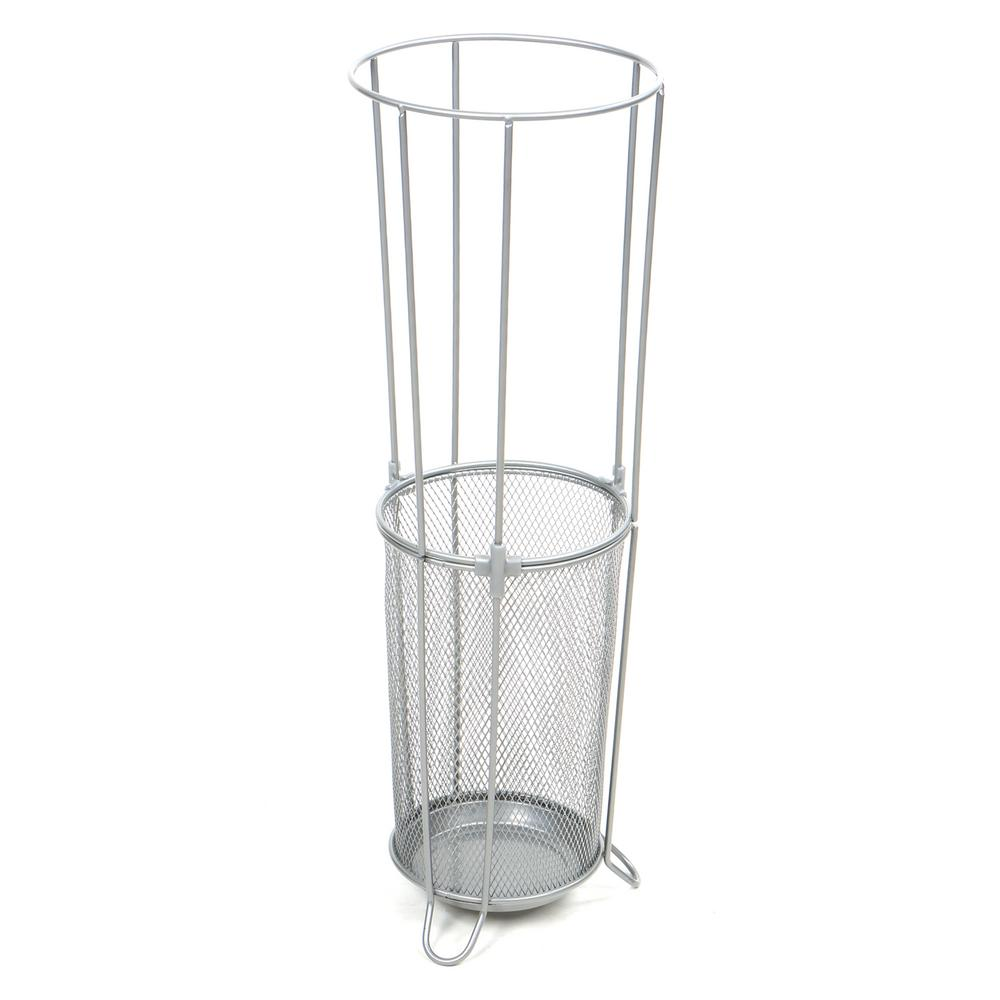Mind Reader Silver Metal Mesh Connected Umbrella Stand