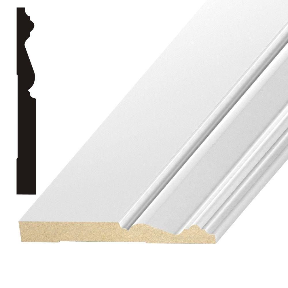 OP312 9/16 in. x 5-1/4 in. MDF Base Moulding
