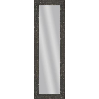 Large Rectangle Black Art Deco Mirror (52.5 in. H x 16.5 in. W)