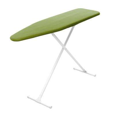 T-Leg Adjustable Height Foam Pad Ironing Board with Green Cotton Cover