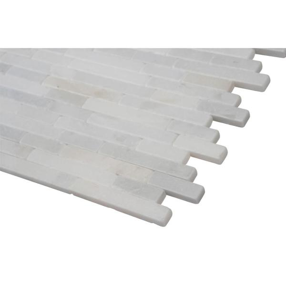 Greecian White Tumbled Veneer Marble Tile x 18 in 8 in