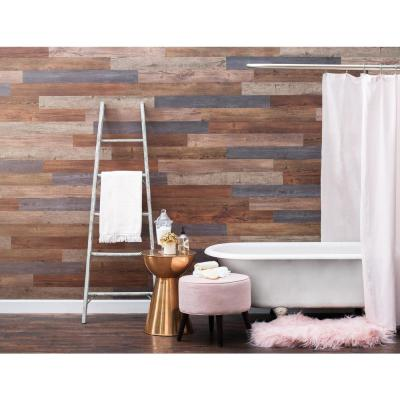 E-Z Wall Assorted 4 in. x 3 ft. Peel and Press Vinyl Plank Wall Decor (20 sq. ft. / case)