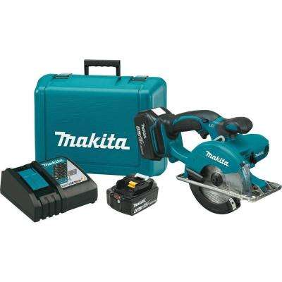 18-Volt LXT Lithium-Ion Cordless 5-3/8 in. Metal Cutting Saw Kit