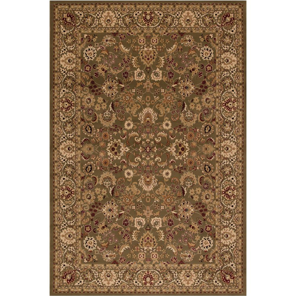 Concord Global Trading Persian Classics Mahal Green 3 ft. 11 in. x 5 ft. 7 in. Area Rug