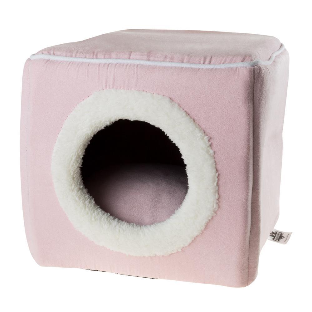 Petmaker Small Pink Cozy Cave Pet Cube