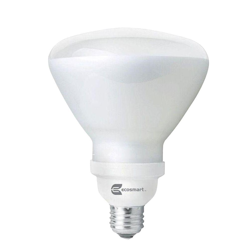 EcoSmart 120W Equivalent Soft White (2700K) R40 CFL Flood Light Bulb (4-Pack)