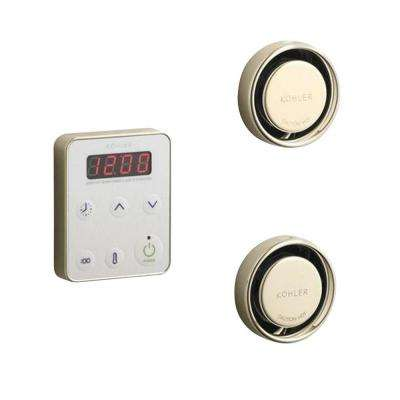 Fast Response Wall-Mount Steam Bath Generator Control Kit in Vibrant French Gold