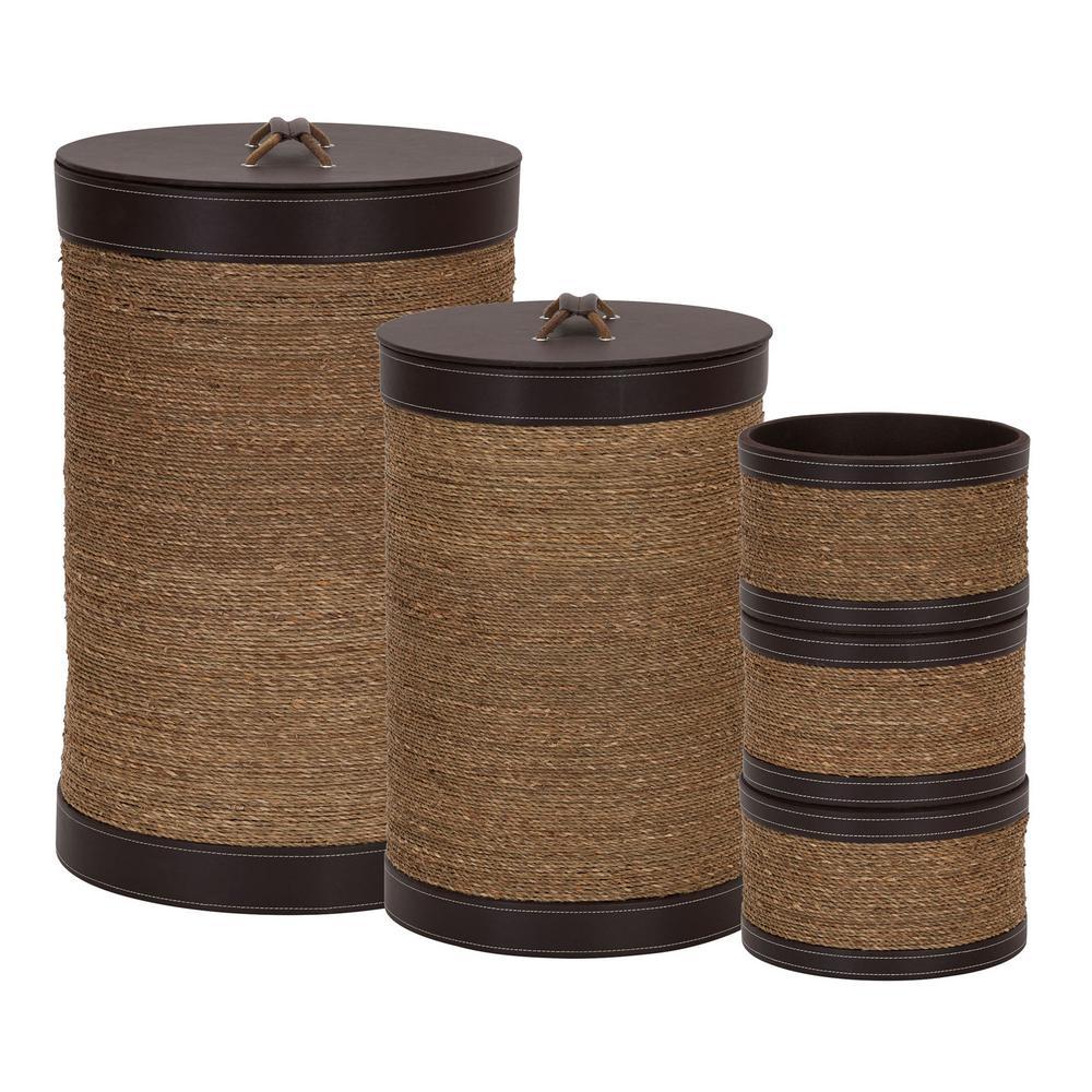 23.6 in x 15.35 in storage basket set (5-Piece)