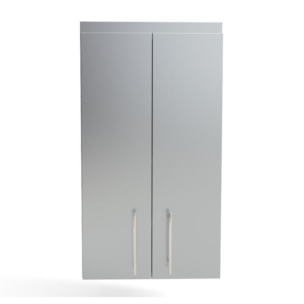 Sunstone Steel Outdoor Cabinet Full Double Door Cabinet Shelves